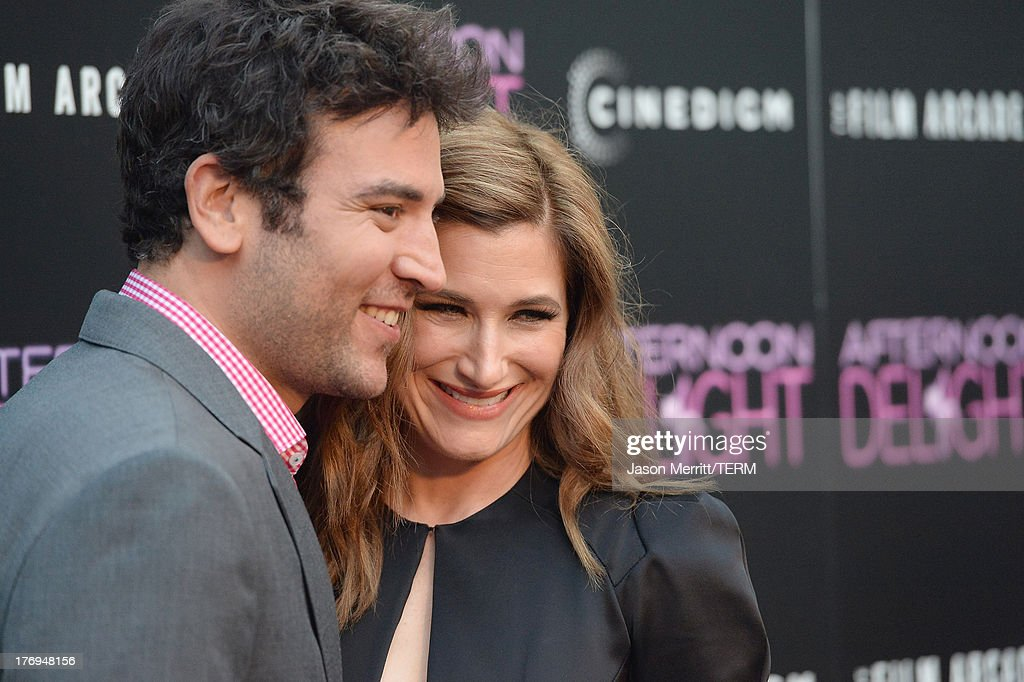 Actors Josh Radnor and Kathryn Hahn attend the premiere of the Film Arcade and Cinedigm's 'Afternoon Delight' at ArcLight Hollywood on August 19, 2013 in Hollywood, California.