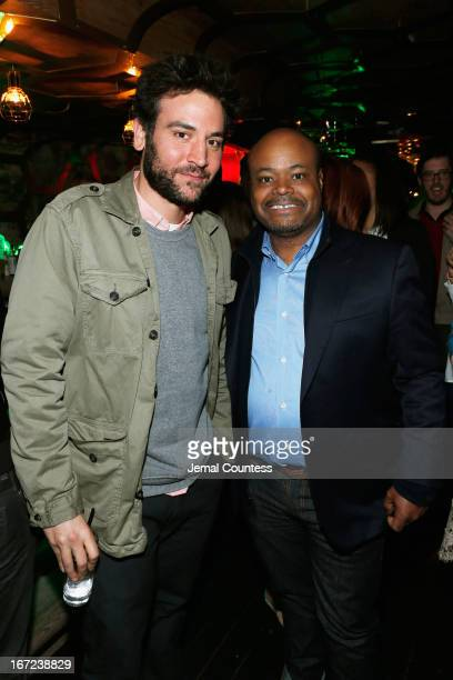 Actors Josh Radnor and Terence Bernie Hines attend the Tribeca Film Festival 2013 After Party 'Before Midnight' sponsored by Heineken on April 22...