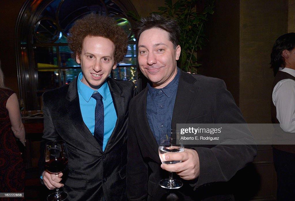 Actors <a gi-track='captionPersonalityLinkClicked' href=/galleries/search?phrase=Josh+Sussman&family=editorial&specificpeople=5756661 ng-click='$event.stopPropagation()'>Josh Sussman</a> and Chris Bergoch attend TheWrap 4th Annual Pre-Oscar Party at Four Seasons Hotel Los Angeles at Beverly Hills on February 20, 2013 in Beverly Hills, California.