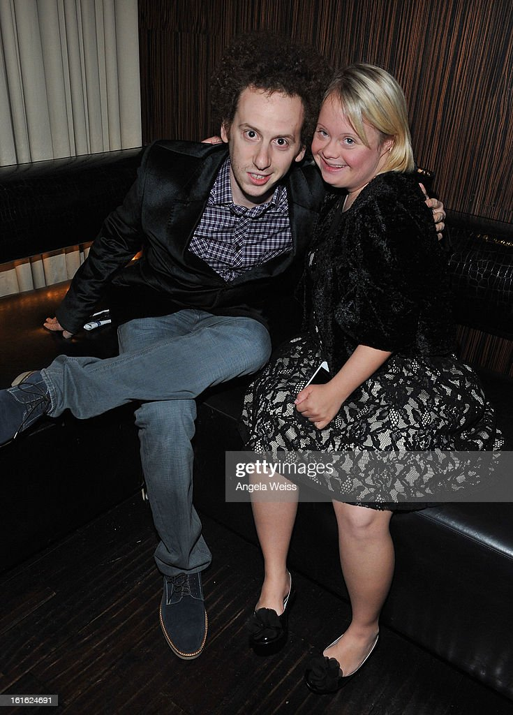 Actors Josh Sussman and Lauren Potter attend the opening night after party of 'Jekyll & Hyde' held at Beso on February 12, 2013 in Hollywood, California.