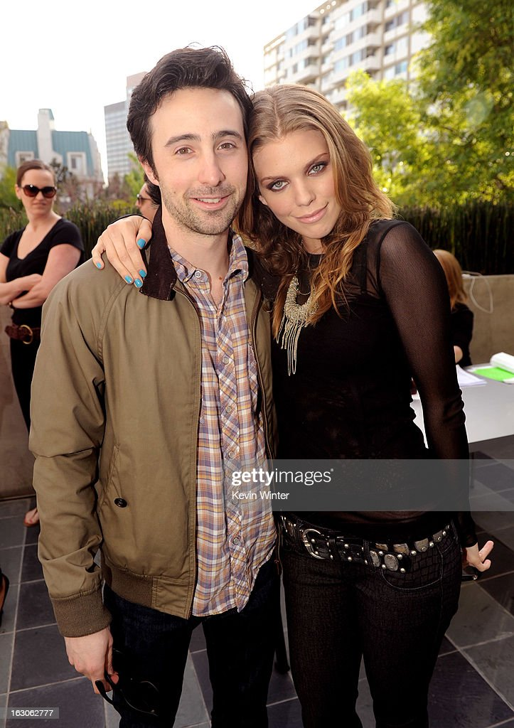 Actors <a gi-track='captionPersonalityLinkClicked' href=/galleries/search?phrase=Josh+Zuckerman&family=editorial&specificpeople=2289740 ng-click='$event.stopPropagation()'>Josh Zuckerman</a> (L) and <a gi-track='captionPersonalityLinkClicked' href=/galleries/search?phrase=AnnaLynne+McCord&family=editorial&specificpeople=4070122 ng-click='$event.stopPropagation()'>AnnaLynne McCord</a> pose at the CW Network's '90210' Season 5 Wrap Party on March 3, 2013 in Los Angeles, California.