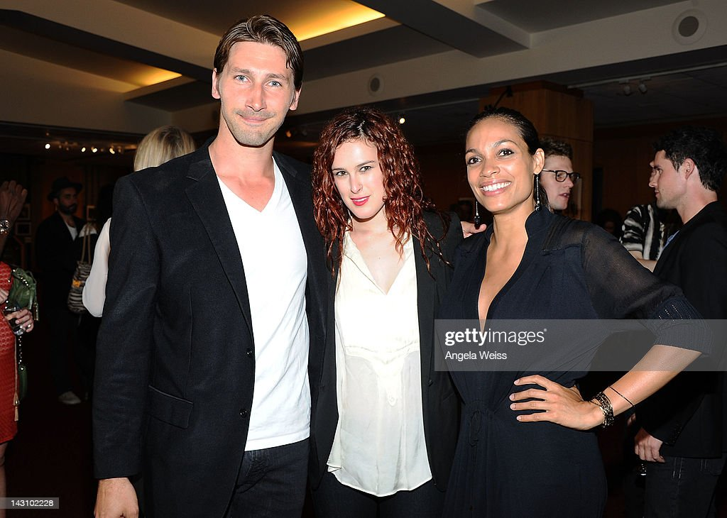 Actors Joshua Frederic Smith, Rumer Willis and Rosario Dawson attend the 'Black November' screening on April 18, 2012 in Beverly Hills, California.