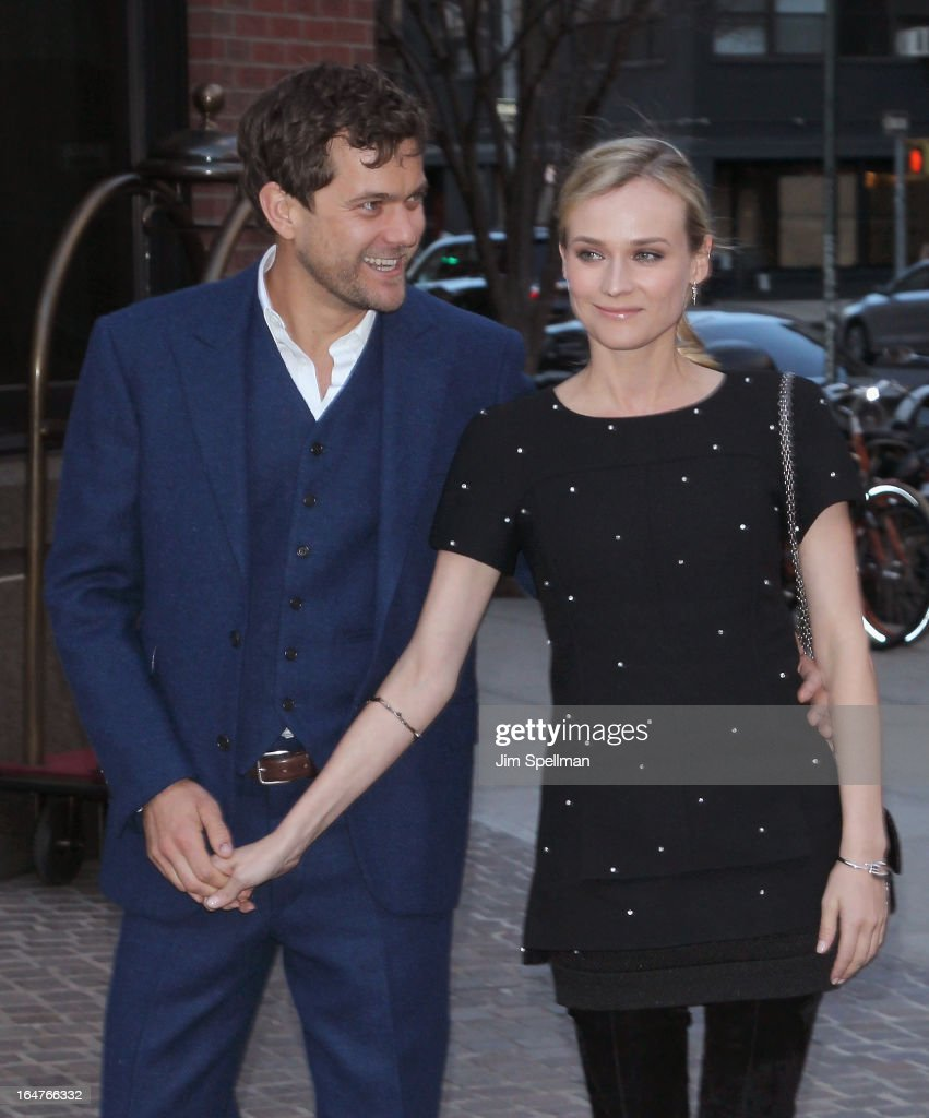 Actors Joshua Jackson and Diane Kruger attend The Cinema Society & Jaeger-LeCoultre screening of Open Road Films' 'The Host' at Tribeca Grand Hotel on March 27, 2013 in New York City.