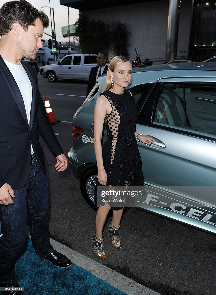 Actors Joshua Jackson and Diane Kruger attend the premiere of Open Road Films 'The Host' at ArcLight Cinemas Cinerama Dome on March 19, 2013 in Hollywood, California.