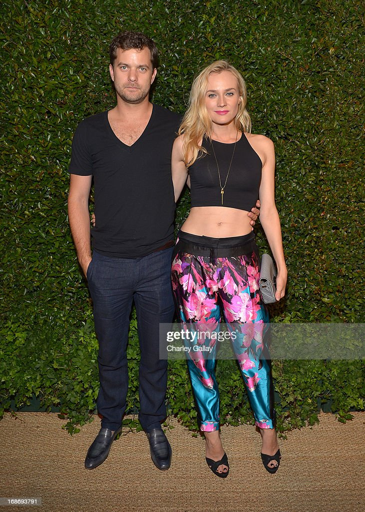 Actors Joshua Jackson (L) and Diane Kruger attend Vogue and MAC Cosmetics dinner hosted by Lisa Love and John Demsey in honor of Prabal Gurung at the Chateau Marmont on Monday, May 13, 2013 in Los Angeles, California.
