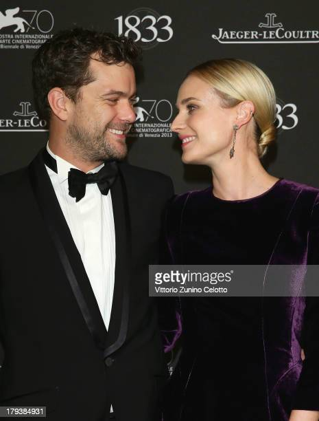 Actors Joshua Jackson and Diane Kruger wearing a JaegerLeCoultre watch attend a gala dinner hosted by JaegerLeCoultre celebrating its 180th...