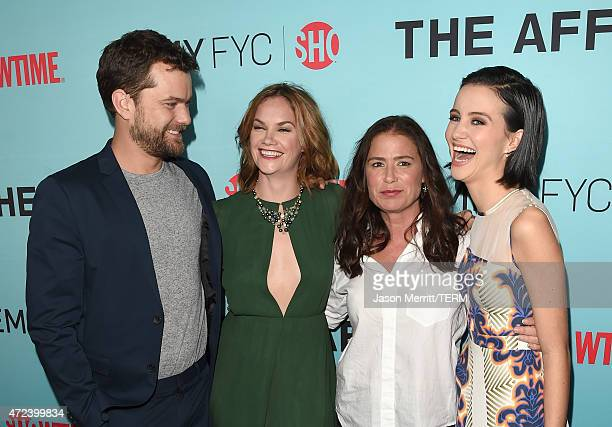 Actors Joshua Jackson Ruth Wilson Maura Tierney and Julia Goldani Telles attend Showtime's 'The Affair' screening and panel discussion at Samuel...