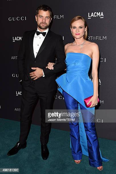 Actors Joshua Jackson wearing Gucci and Diane Kruger attend LACMA 2015 ArtFilm Gala Honoring James Turrell and Alejandro G Iñárritu Presented by...
