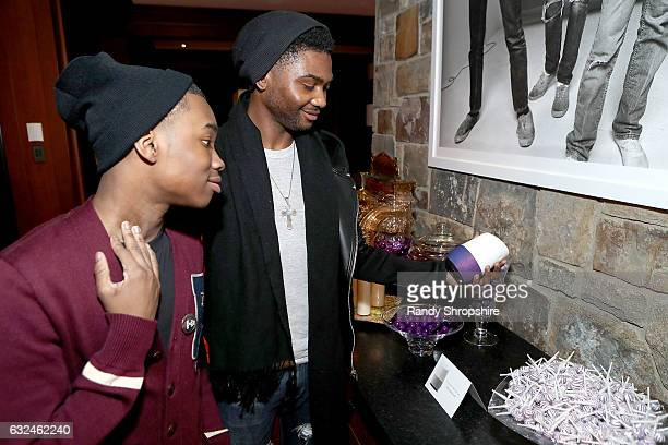 Actors Joshua Williams and Frankie Smith attend Google Home x Sundance x Wanderluxxe celebrate diversity at the home of Barry Amy Baker on January 22...