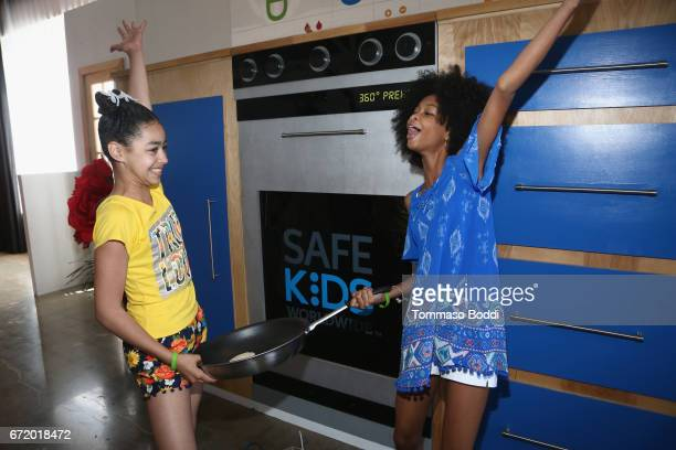 Actors Journey Slayton and Brianna Reed attend Safe Kids Day 2017 at Smashbox Studios on April 23 2017 in Culver City California