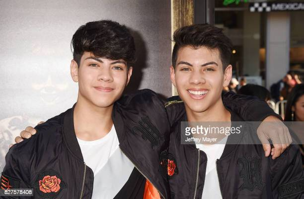 Actors Jovani Jara and Julian Jara attend the premiere of New Line Cinema's 'Annabelle Creation' at TCL Chinese Theatre IMAX on August 07 2017 in Los...