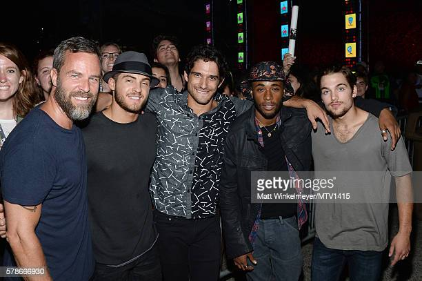 Actors JR Bourne Cody Christian Host Tyler Posey actors Khylin Rhambo and Dylan Sprayberry attend the MTV Fandom Awards San Diego at PETCO Park on...
