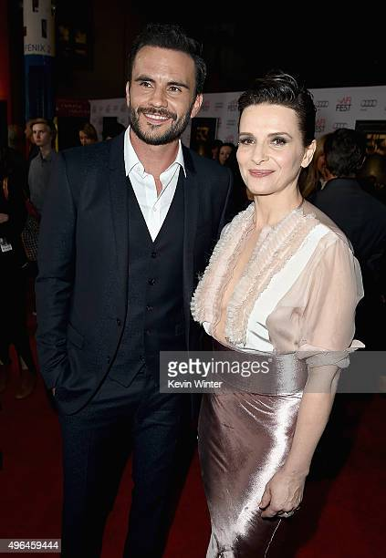 Actors Juan Pablo Raba and Juliette Binoche attend the Centerpiece Gala Premiere of Alcon Entertainment's 'The 33' during AFI FEST 2015 presented by...