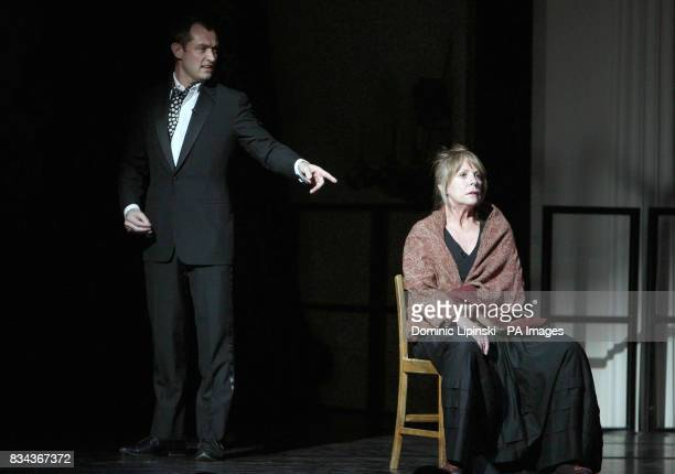 Actors Jude Law and Penelope Wilton perform onstage at a gala dinner for supporters of The Prince's Foundation for Children and the Arts at...