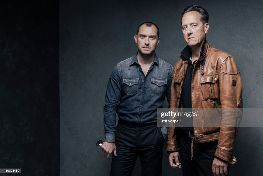 Actors Jude Law and Richard E. Grant are photographed at the Toronto Film Festival on September 9, 2013 in Toronto, Ontario.