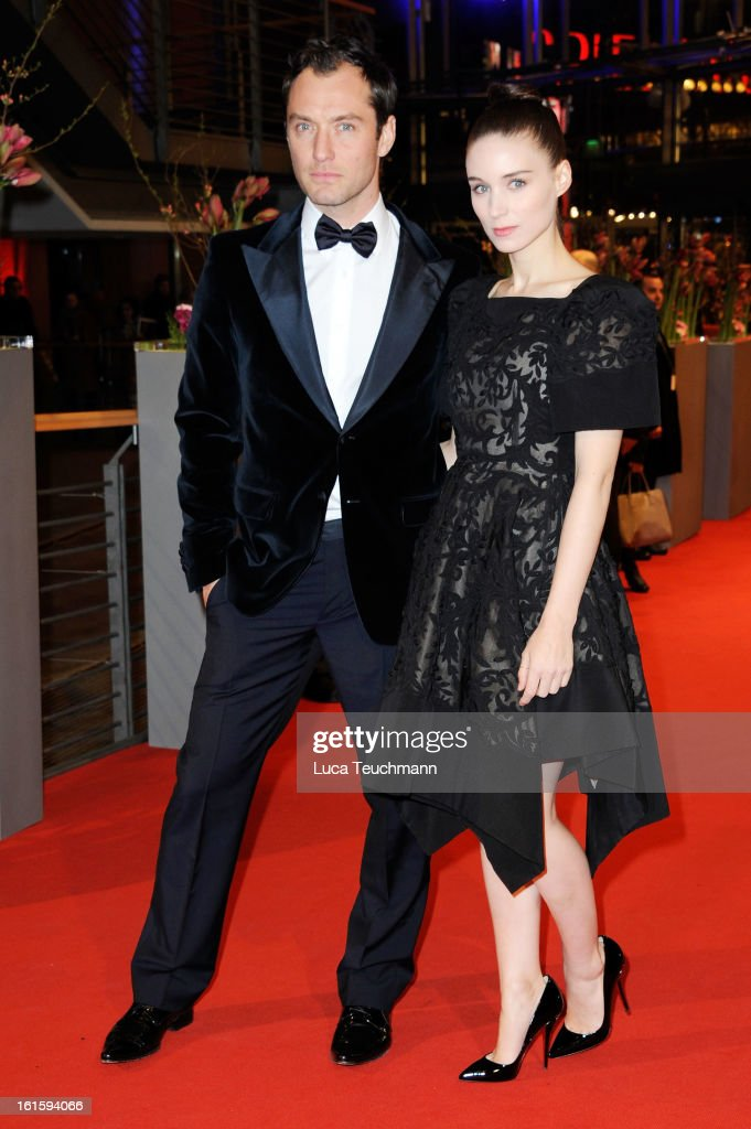 Actors Jude Law and Rooney Mara attend the 'Side Effects' Premiere during the 63rd Berlinale International Film Festival at Berlinale Palast on...