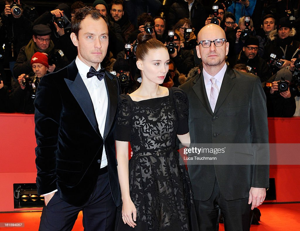 Actors Jude Law Rooney Mara and director Steven Soderbergh attend the 'Side Effects' Premiere during the 63rd Berlinale International Film Festival...