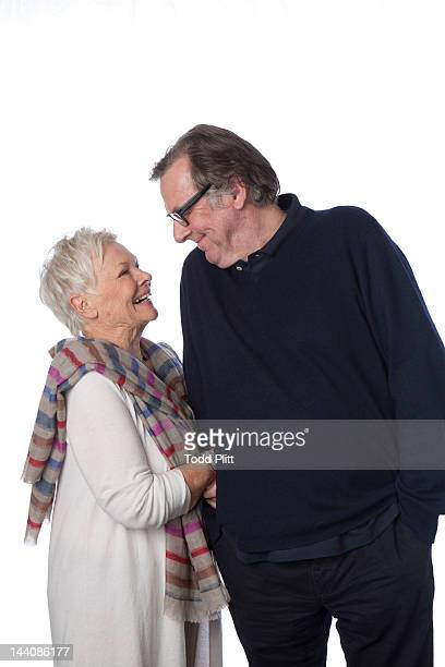 Actors Judi Dench and Tom Wilkinson are photographed for USA Today on April 21 2012 in New York City