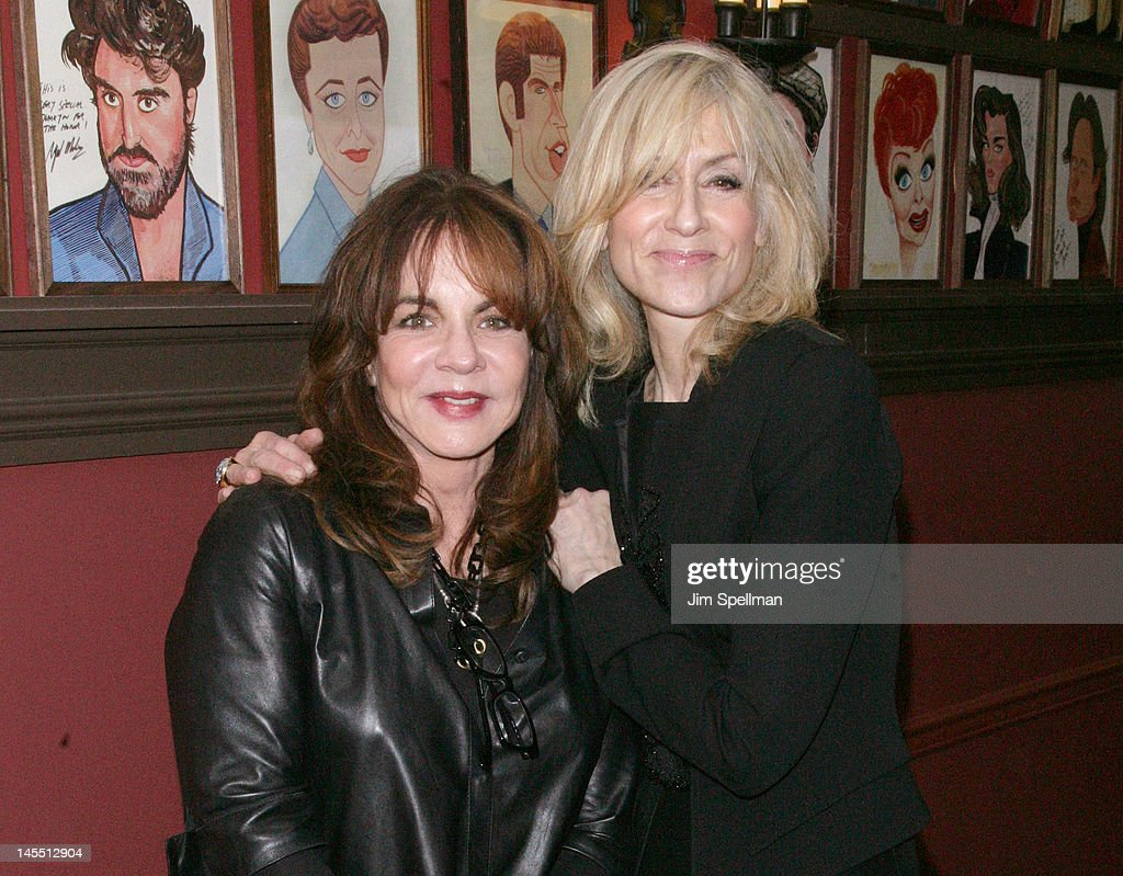 Actors Judith Light and Stockard Channing attend Jon Robin Baitz's caricature unveiling at Sardi's on May 31, 2012 in New York City.