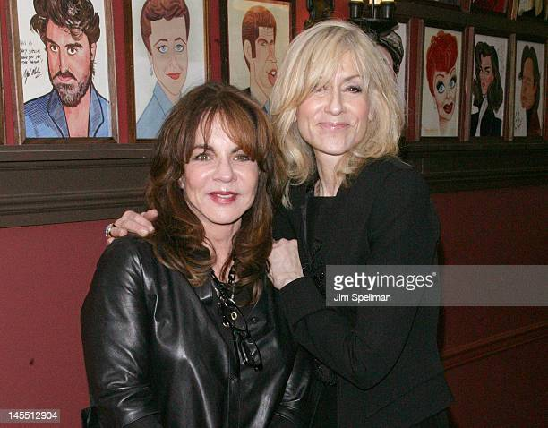 Actors Judith Light and Stockard Channing attend Jon Robin Baitz's caricature unveiling at Sardi's on May 31 2012 in New York City
