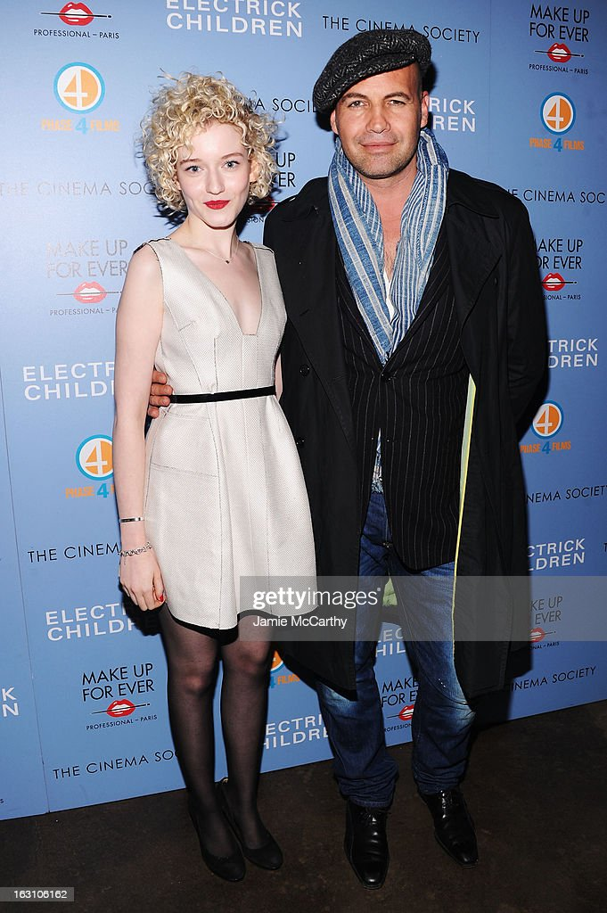 Actors Julia Garner (L) and <a gi-track='captionPersonalityLinkClicked' href=/galleries/search?phrase=Billy+Zane&family=editorial&specificpeople=211418 ng-click='$event.stopPropagation()'>Billy Zane</a> attend The Cinema Society & Make Up For Ever screening of 'Electrick Children' at IFC Center on March 4, 2013 in New York City.
