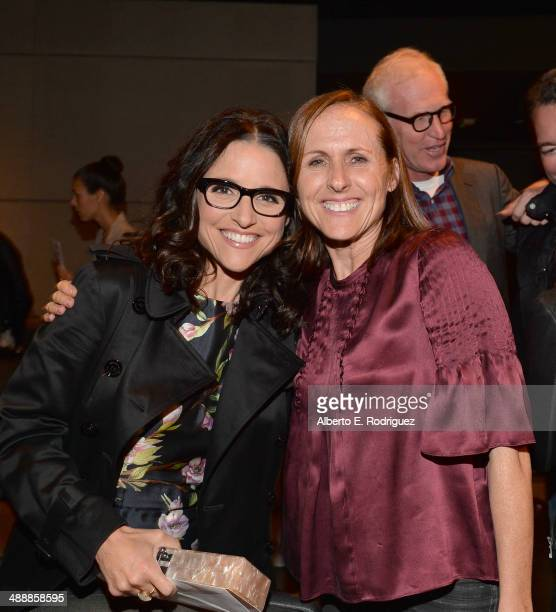 Actors Julia LouisDreyfus and Molly Shannon attend the 'Fed Up' premiere held at the Pacfic Design Center on May 8 2014 in West Hollywood California