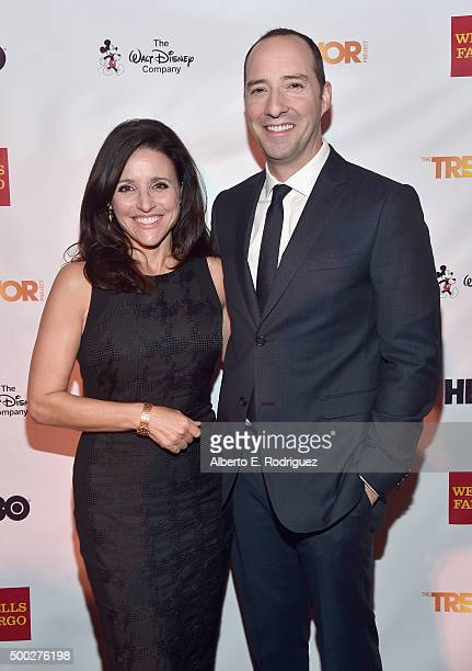 Actors Julia LouisDreyfus and Tony Hale attend TrevorLIVE LA 2015 at Hollywood Palladium on December 6 2015 in Los Angeles California