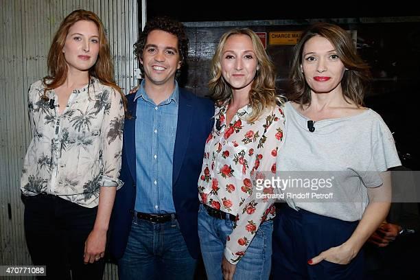 Actors Julia Piaton Bruno Sanches Audrey Lamy and Anne Marivin present the movie 'Le Talent de mes amis' wich Main Guest of the show Alex Lutz plays...