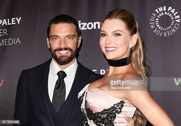 Actors Julian Gil and Marjorie de Sousa attend The Paley Center for Media's Hollywood tribute to Hispanic achievements in television at the Beverly...
