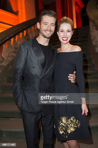 Actors Julian Morris and Alona Tal attend the German premiere of the TV show 'Hand of God' on August 31 2015 in Berlin Germany