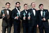 Actors Julian Ovenden Tom Cullen Allen Leech Kevin Doyle and Jeremy Swift cowinners of the Outstanding Performance by an Ensemble in a Drama Series...