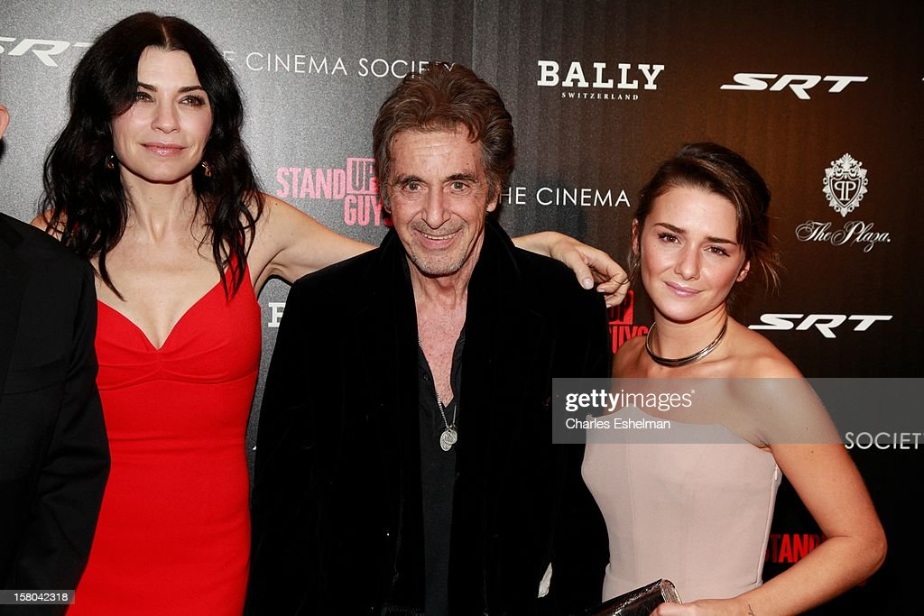 Actors Julianna Margulies, Al Pacino and Addison Timlin attend The Cinema Society With Chrysler & Bally Host The Premiere Of 'Stand Up Guys' at The Museum of Modern Art on December 9, 2012 in New York City.