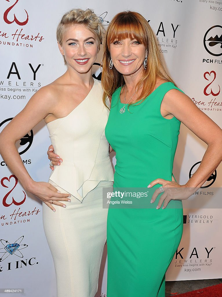 Actors Julianne Hough and Jane Seymour attend the 'Open Hearts Foundation Gala' on May 10, 2014 in Malibu, California.