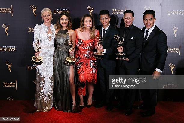 Actors Julianne Hough Vanessa Hudgens Kether Donohue Jordan Fisher David Del Rio and Carlos Pena Jr winners of Outstanding Special Class Program for...