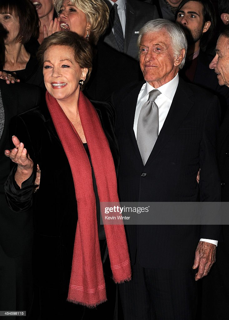 Actors Julie Andrews and Dick Van Dyke attend the U.S. premiere of Disney's 'Saving Mr. Banks', the untold backstory of how the classic film 'Mary Poppins' made it to the screen, at the Walt Disney Studios on December 9, 2013 in Burbank, California. The film opens this Holiday season.