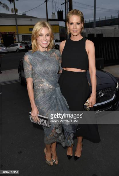 Actors Julie Bowen and Jenna Elfman attend PS ARTS Presents LA Modernism Opening Night at 3LABS on April 25 2014 in Culver City California