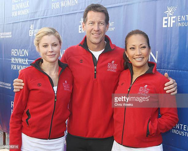 Actors Julie Bowen James Denton and Carrie Ann Inaba attend the 17th Annual EIF Revlon Run/Walk for Women on May 8 2010 in Los Angeles California