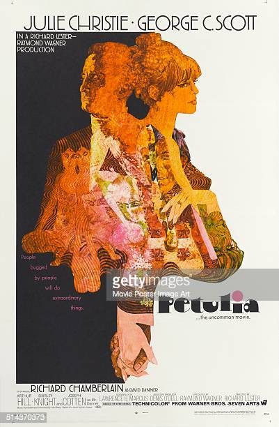 Actors Julie Christie and George C Scott appear on a poster for the movie 'Petulia' 1968