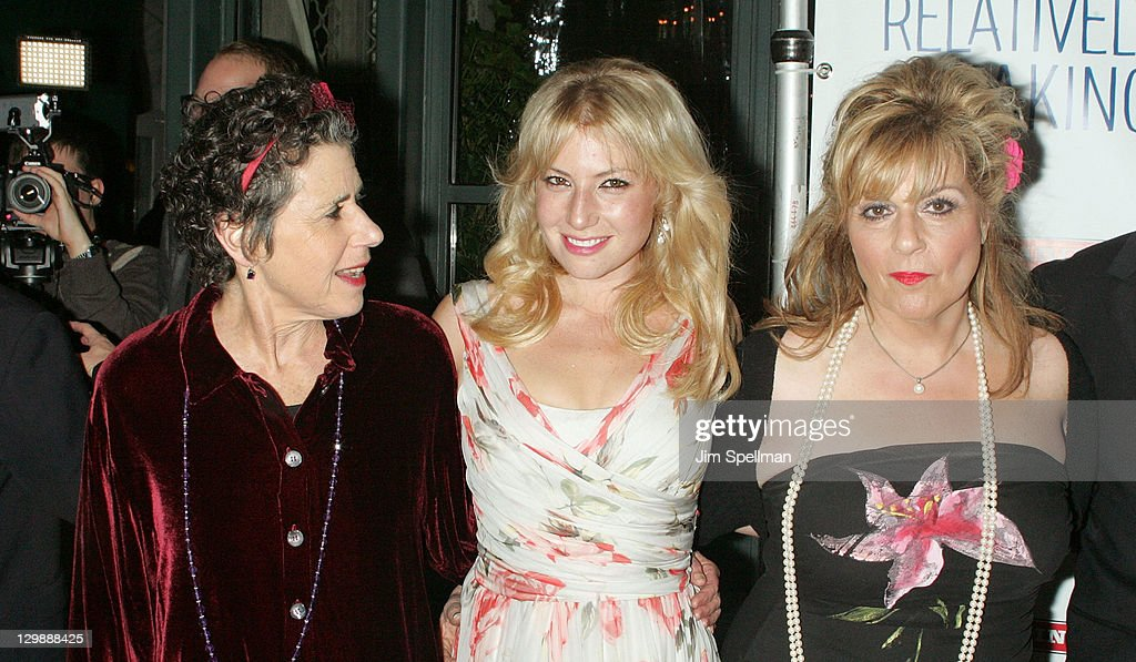Actors <a gi-track='captionPersonalityLinkClicked' href=/galleries/search?phrase=Julie+Kavner&family=editorial&specificpeople=1545588 ng-click='$event.stopPropagation()'>Julie Kavner</a>, <a gi-track='captionPersonalityLinkClicked' href=/galleries/search?phrase=Ari+Graynor&family=editorial&specificpeople=653300 ng-click='$event.stopPropagation()'>Ari Graynor</a> and <a gi-track='captionPersonalityLinkClicked' href=/galleries/search?phrase=Caroline+Aaron&family=editorial&specificpeople=220621 ng-click='$event.stopPropagation()'>Caroline Aaron</a> attend the 'Relatively Speaking' opening night after party at the Brooks Atkinson Theatre on October 20, 2011 in New York City.