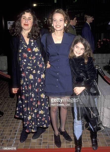 Actors Julie Kavner Samantha Mathis and Gaby Hoffman attend the 'This Is My Life' Westwood Premiere on February 18 1992 at Avco Center Cinemas in...