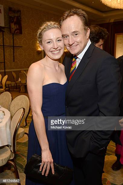 Actors Juliet Rylance and Bradley Whitford attend the 15th Annual AFI Awards Luncheon at Four Seasons Hotel Los Angeles at Beverly Hills on January 9...