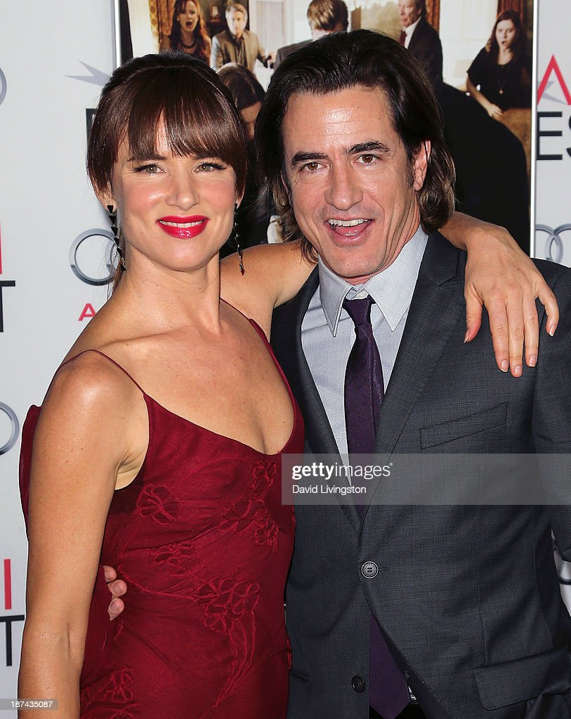 Actors <a gi-track='captionPersonalityLinkClicked' href=/galleries/search?phrase=Juliette+Lewis&family=editorial&specificpeople=202873 ng-click='$event.stopPropagation()'>Juliette Lewis</a> (L) and <a gi-track='captionPersonalityLinkClicked' href=/galleries/search?phrase=Dermot+Mulroney&family=editorial&specificpeople=208776 ng-click='$event.stopPropagation()'>Dermot Mulroney</a> attend the AFI FEST 2013 presented by Audi premiere of The Weinstein Company's 'August: Osage County' at the TCL Chinese Theatre on November 8, 2013 in Hollywood, California.