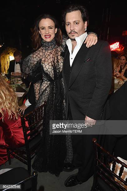 Actors Juliette Lewis and Johnny Depp attend The Art of Elysium 2016 HEAVEN Gala presented by Vivienne Westwood Andreas Kronthaler at 3LABS on...