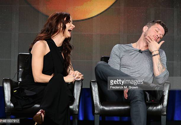 Actors Juliette Lewis and Ryan Phillippe onstage during the 'Secrets and Lies' panel at the Disney/ABC Television Group portion of the 2015 Winter...