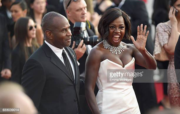 Actors Julius Tennon and Viola Davis attend The 23rd Annual Screen Actors Guild Awards at The Shrine Auditorium on January 29 2017 in Los Angeles...