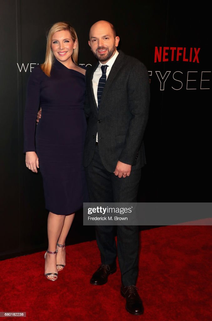 Actors June Diane Raphael (L) and Paul Scheer arrive at the Netflix FYSee Kick Off Event at Netflix FYSee Space on May 7, 2017 in Beverly Hills, California.