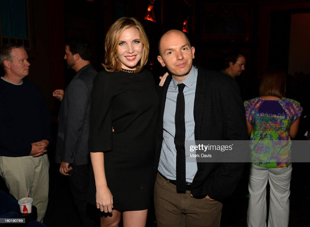 Actors <a gi-track='captionPersonalityLinkClicked' href=/galleries/search?phrase=June+Diane+Raphael&family=editorial&specificpeople=5923890 ng-click='$event.stopPropagation()'>June Diane Raphael</a> (L) and <a gi-track='captionPersonalityLinkClicked' href=/galleries/search?phrase=Paul+Scheer&family=editorial&specificpeople=805513 ng-click='$event.stopPropagation()'>Paul Scheer</a> attend the 'Childrens Hospital' and 'NTSF:SD:SUV' screening event at the Vista Theatre on September 9, 2013 in Los Angeles, California. 24049_001_MD_0155.JPG