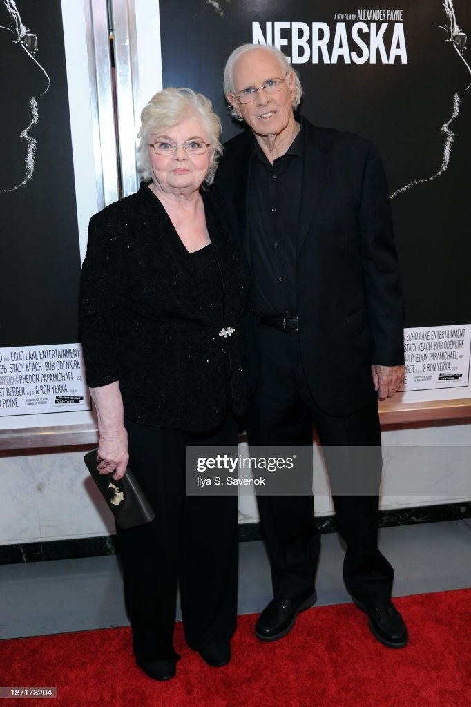 Actors <a gi-track='captionPersonalityLinkClicked' href=/galleries/search?phrase=June+Squibb&family=editorial&specificpeople=3089431 ng-click='$event.stopPropagation()'>June Squibb</a> and <a gi-track='captionPersonalityLinkClicked' href=/galleries/search?phrase=Bruce+Dern&family=editorial&specificpeople=239171 ng-click='$event.stopPropagation()'>Bruce Dern</a> attend the 'Nebraska' special screening at Paris Theater on November 6, 2013 in New York City.