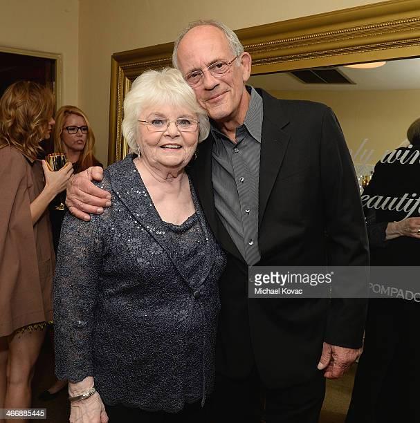 Actors June Squibb and Christopher Lloyd visit The Moet Chandon Lounge before receiving the Virtuosos Award at The Santa Barbara International Film...