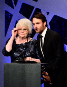 Actors June Squibb and Will Forte speak onstage during the 16th Costume Designers Guild Awards with presenting sponsor Lacoste at The Beverly Hilton...